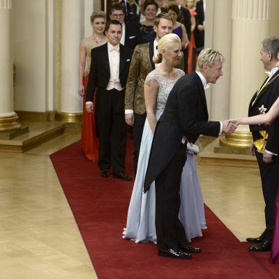Matti Nykänen ja Pia Talonpoika.
