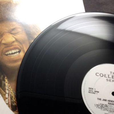 Jimi Hendrixin Radio One -lp:n kansi.
