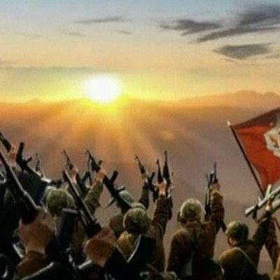 Kuva pohjoiskorealaiselta propagandavideolta.