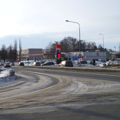 Korsning till Kållbyvägen.