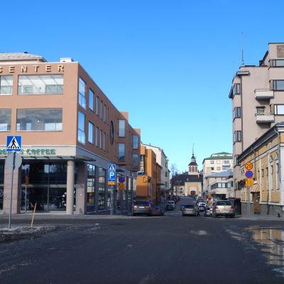 Vy från torget i Jakobstad.