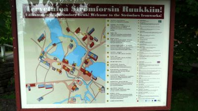 Strömfors bruk i Lovisa - infotavla