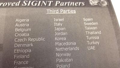 Finland finns med på en lista bland länder som samarbetat med den amerikanska säkerhetstjänsten NSA.