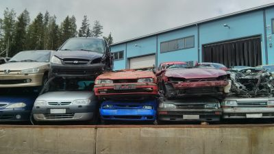 Bilar som ska skrotas