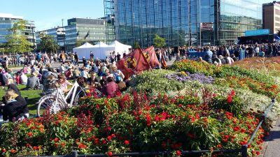 Europe Says Welcome på Medborgarplatsen i Helsingfors 12.9.2015.