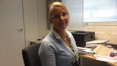 Avdelningsskötare Pernilla Eriksén vid Nickby hvc