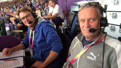 Mikael Ylöstalo och Leif Lampenius, VM 2017.