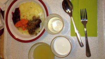 Mat på ett vårdhem.