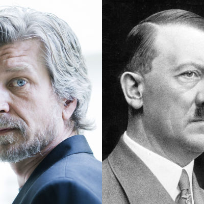 Kirjailija Karl Ove Knausgård ja natsijohtaja Adolf Hitler