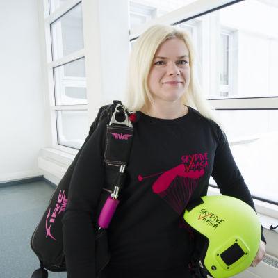 Fallskärmshoppare Susan Hammarström