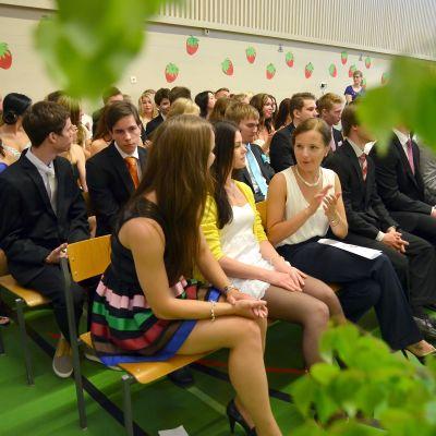 Studentdimission i Kyrkslätts gymnasium, juni 2013.