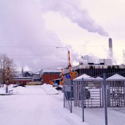 Brand på UPM:s fabriker.