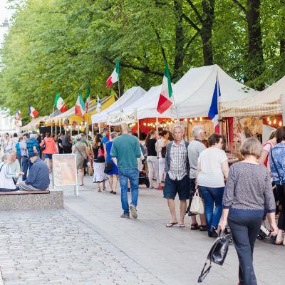 Den europeiska matmarknaden i Vasa.