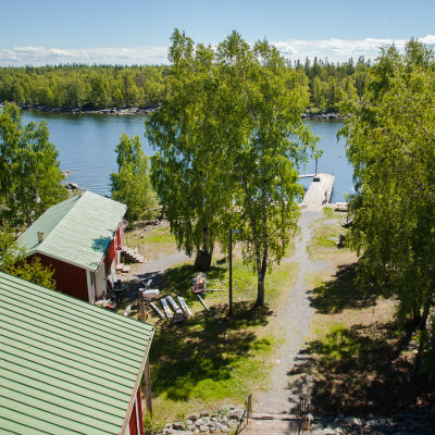 Utsikt från tornet på Kummelskär.