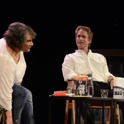 Peter Høeg ja Monika Fagerholm