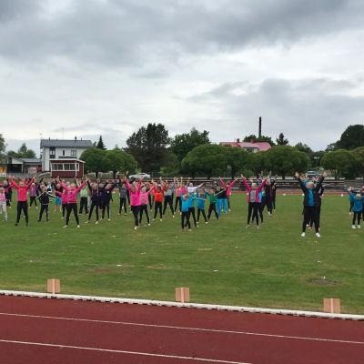 Gymnastikfestival i Kristinestad.