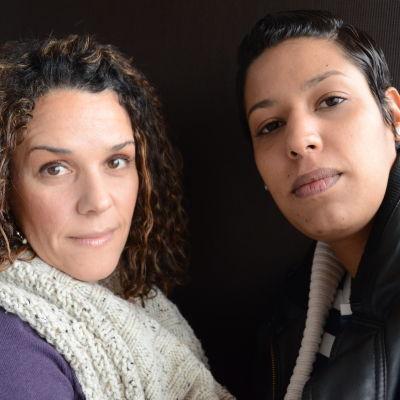 Nathaly Gomez-Pakkanen och Bianca Iacoviello är rädda för att ett inbördeskrig ska bryta ut i Venezuela.