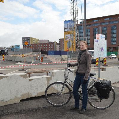 Marjut Ollitervo, vice ordförande för Helsingfors cyklister.
