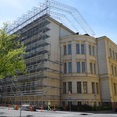 Grundskolan Norsen under renovering sommaren 2015