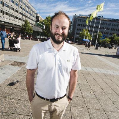 Niklas Nyberg på Vasa torg