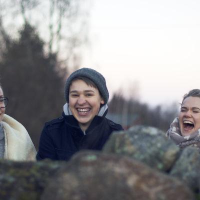 Joppe, Jakom och My i Maxmo