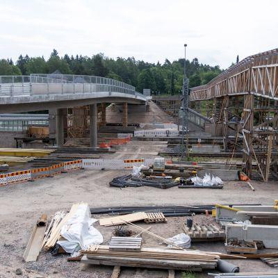 Karis Järnvägsbro under konstruktion