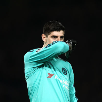 Thibaut Courtois vaktar till vardags Chelseas mål.