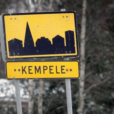 Trafikmärke i Kempele.