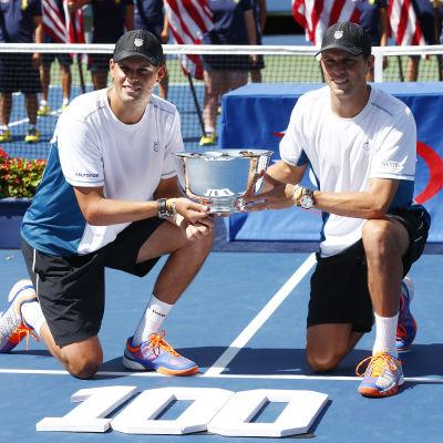 Bob och Mike Bryan i US Open 2014