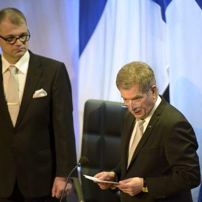 Juha Sipilä och Sauli Niinistö