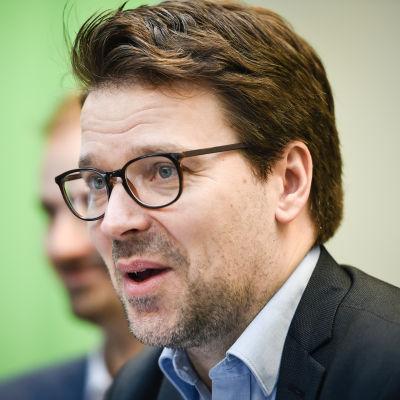 De grönas ordförande Ville Niinistö på Gullranda den 12 juni 2017.