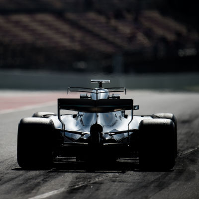 Valtteri Bottas i sin Mercedesbil.