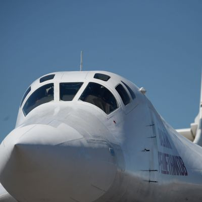 Ett Tu-160 som precis har landat i Venezuela.