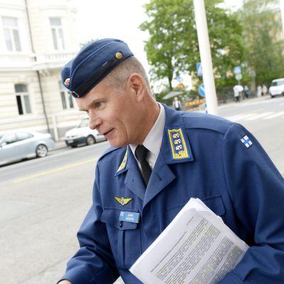 Försvarsmaktens nye kommendör Jarmo Lindberg.