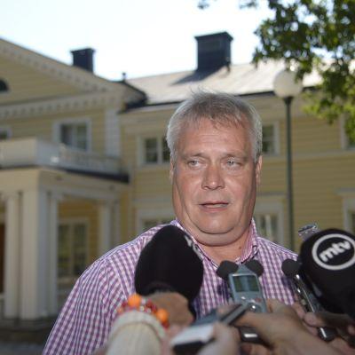 Antti Rinne på tisdagen den 5.8
