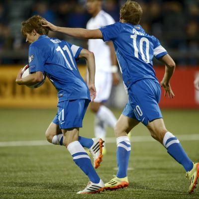 Riku Riski gjorde två mål i Torshavn när Finland vann 3-1.