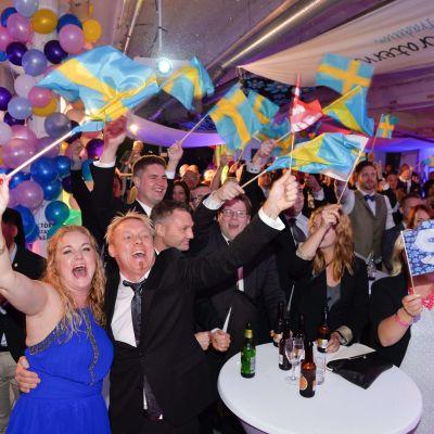 Sverigedemokraternas valvaka.