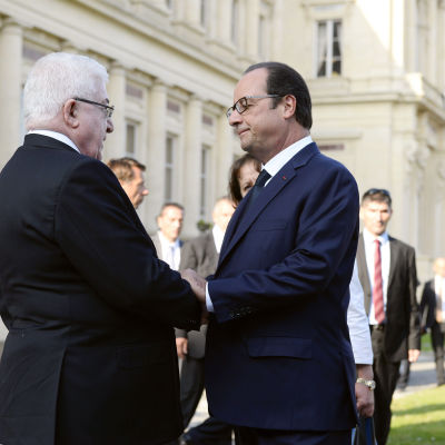 Francois Hollande och Fuad Masum