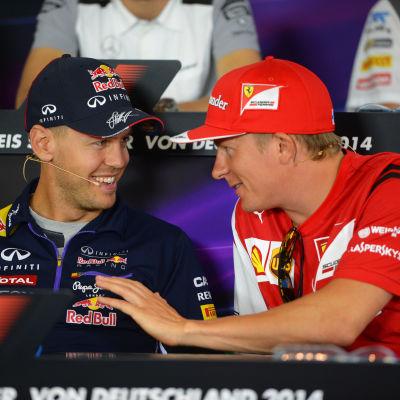 Sebastian Vettel och Kimi Räikkönen blir stallkamrater.