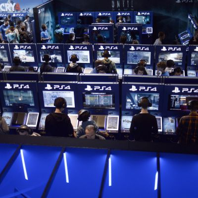 playstation-avdelning på Paris games week.