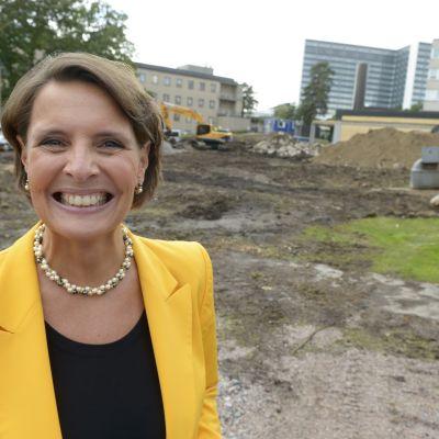 Anne Berner, ordföranden för det nya barnsjukhusets stödstiftelse