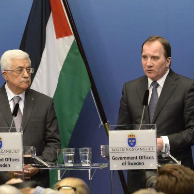 Mahmoud Abbas besöker Stockholm 10.2.2015