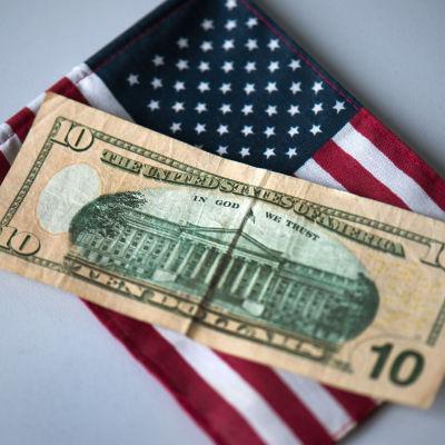 Amerikansk tiodollarssedel.