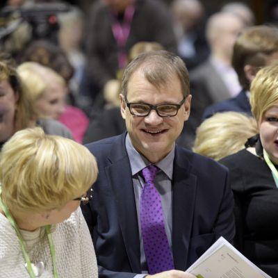 Juha Sipilä på Centerns fullmäktigemöte i S:t Michel.
