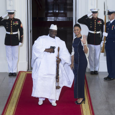 Gambias president Yahya Jammeh på besök i Vita huset 5.8.2014.