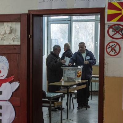 Parlamentsvalet togs om i Tearce i Makedonien.