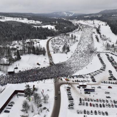 Starten vid Vasaloppet 2017.