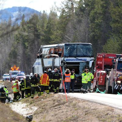 Bussolyckan nära Sveg i Sverige den 2 april 2017