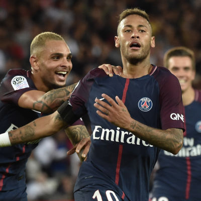 Neymar made his debut for PSG against Toulouse FC.