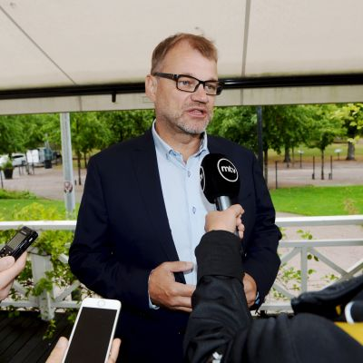 Statsminister Juha Sipilä (C) i Helsingfors den 12 augusti 2018